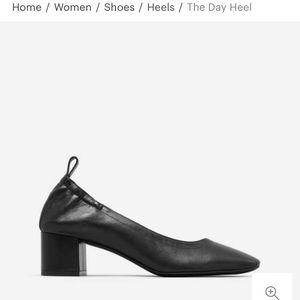 Black leather Everlane Day Heel